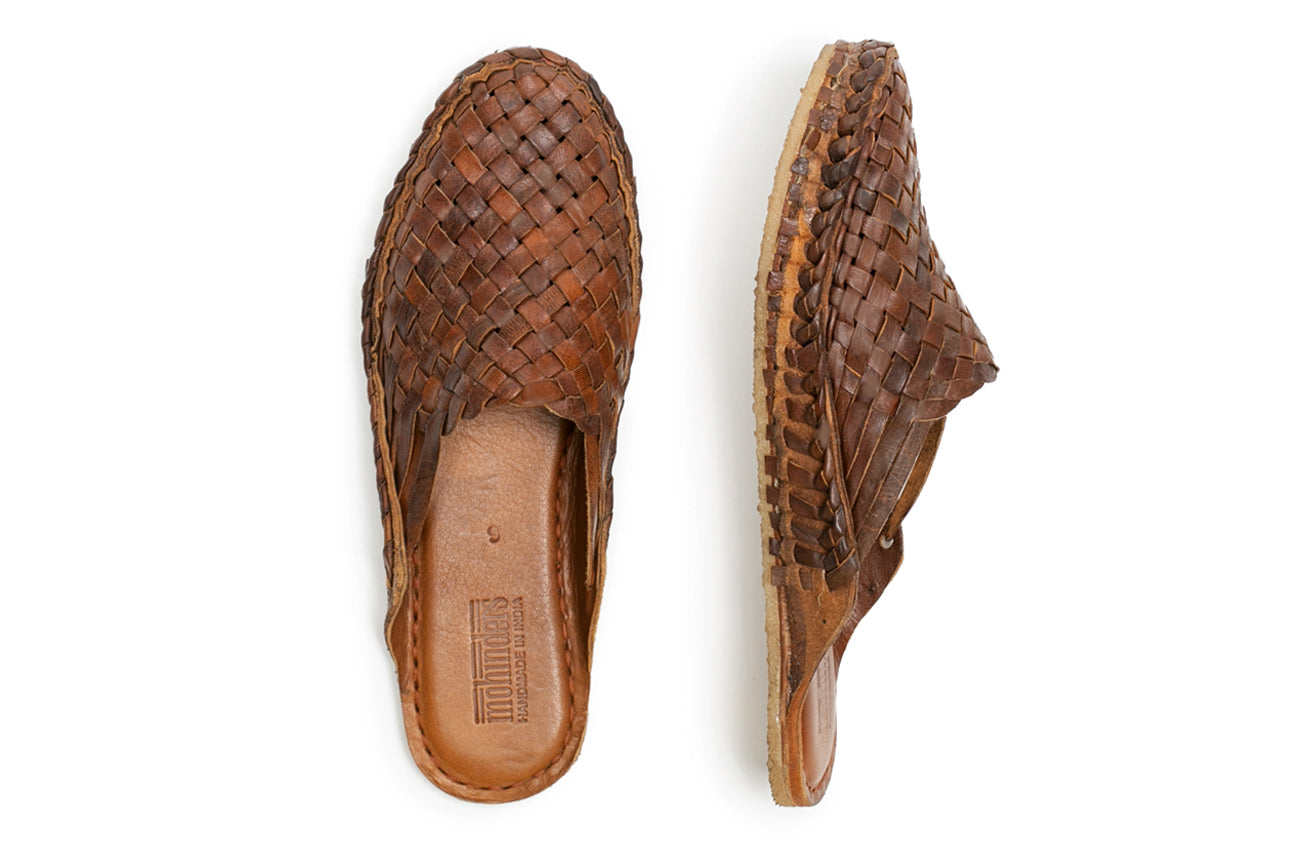 Woven Slide / Oiled Leather