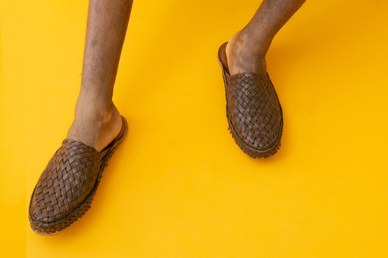 Woven City Slipper / Oiled Leather
