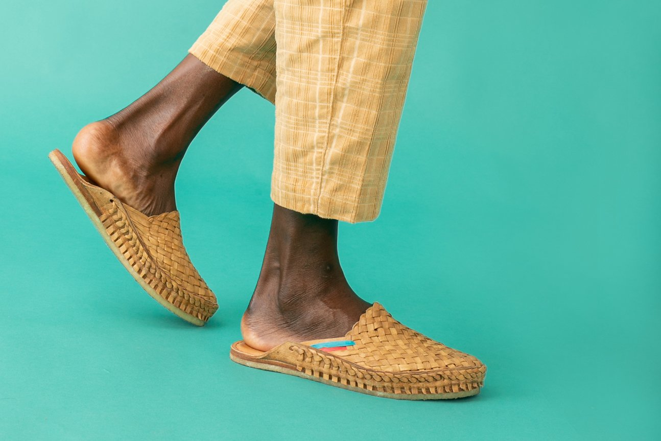 Woven City Slipper / Natural Leather