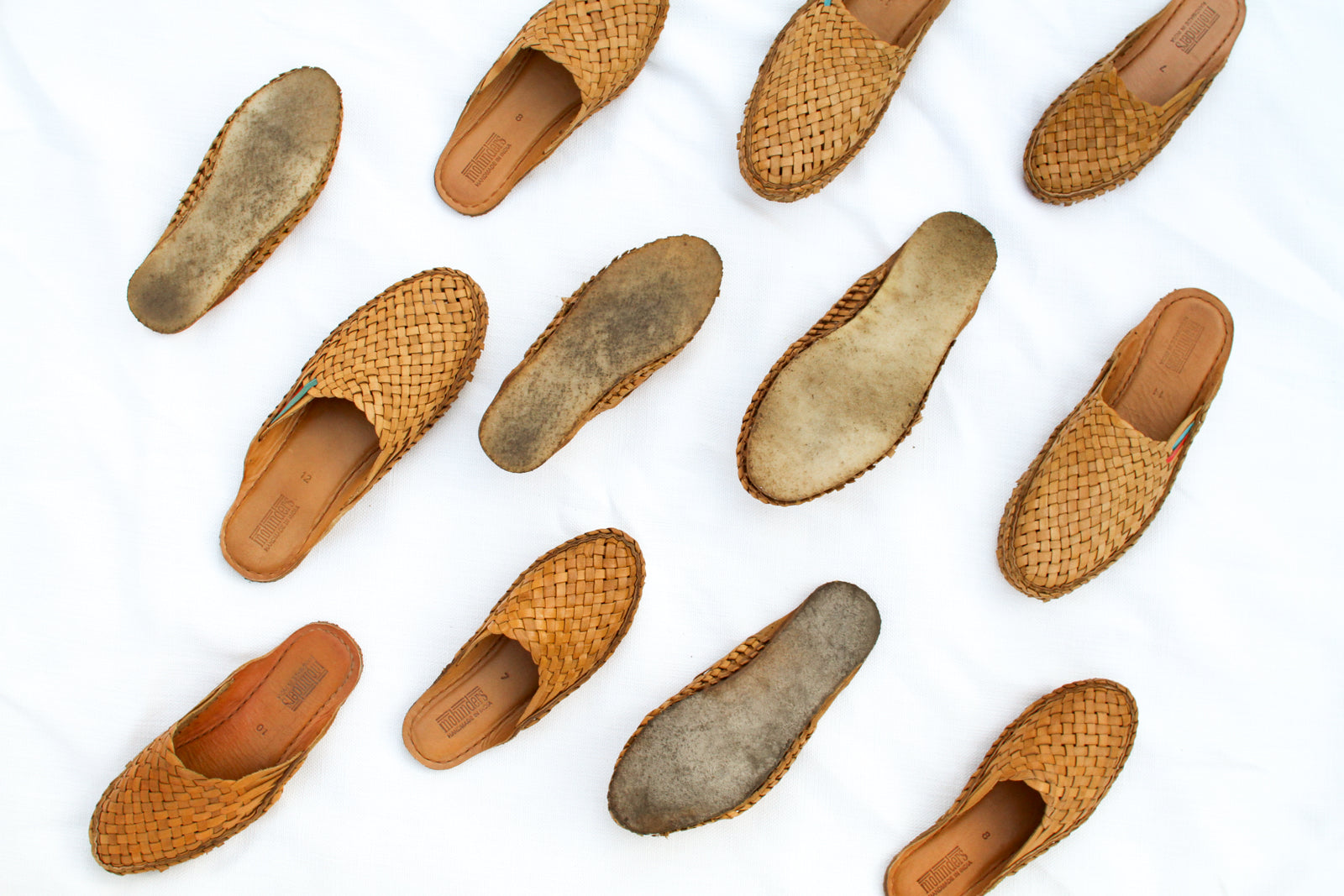 Sample Sale: Men's Woven City Slipper / Natural Leather