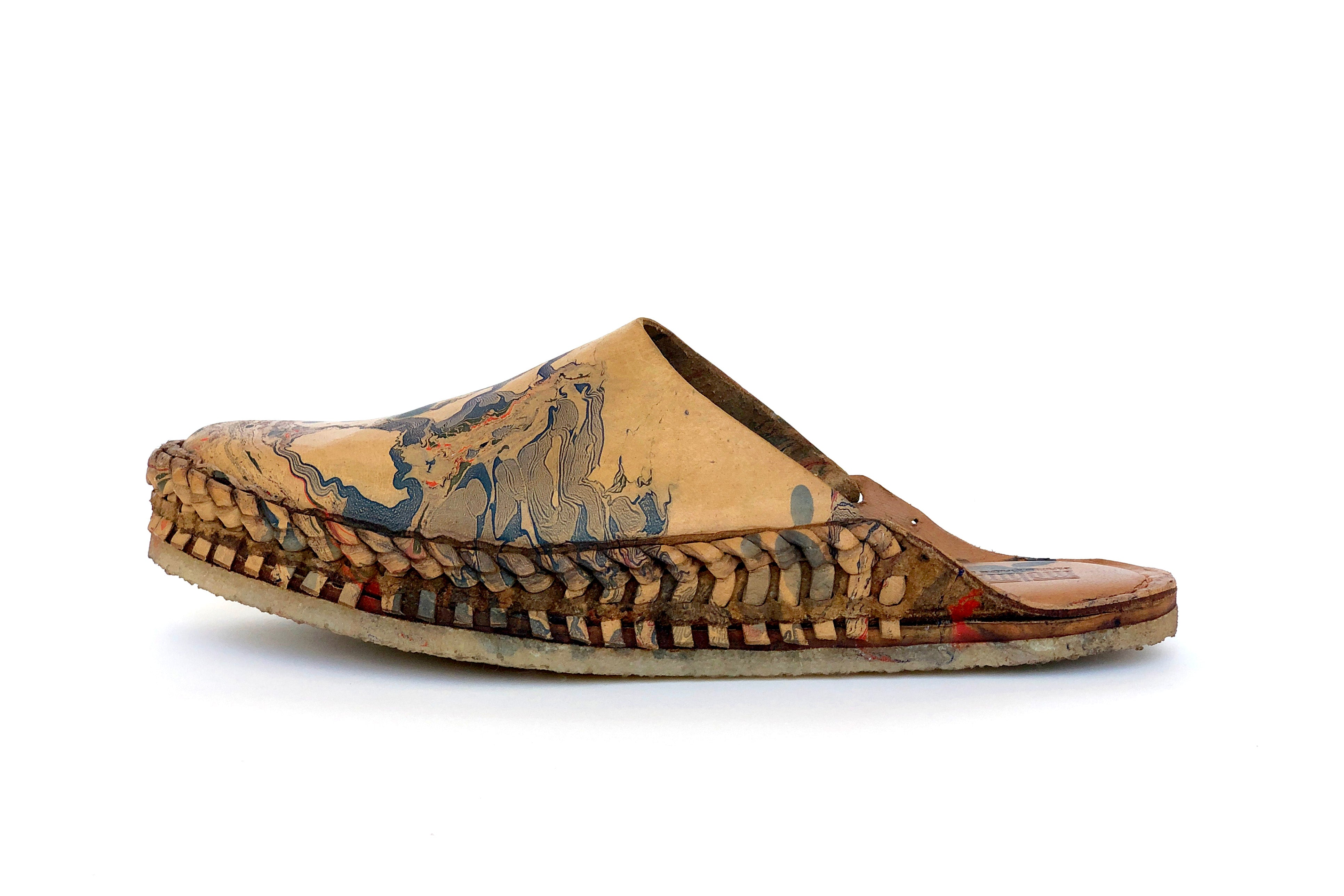 Mohinders x Shaine Drake • Marbled Leather City Slippers •  Men's