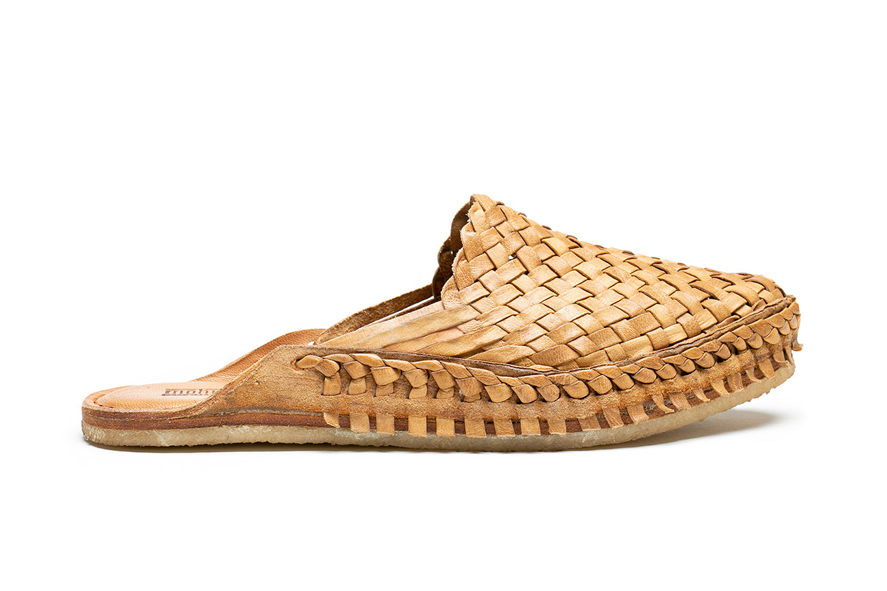 Woven City Slipper / Natural Leather, No stripes