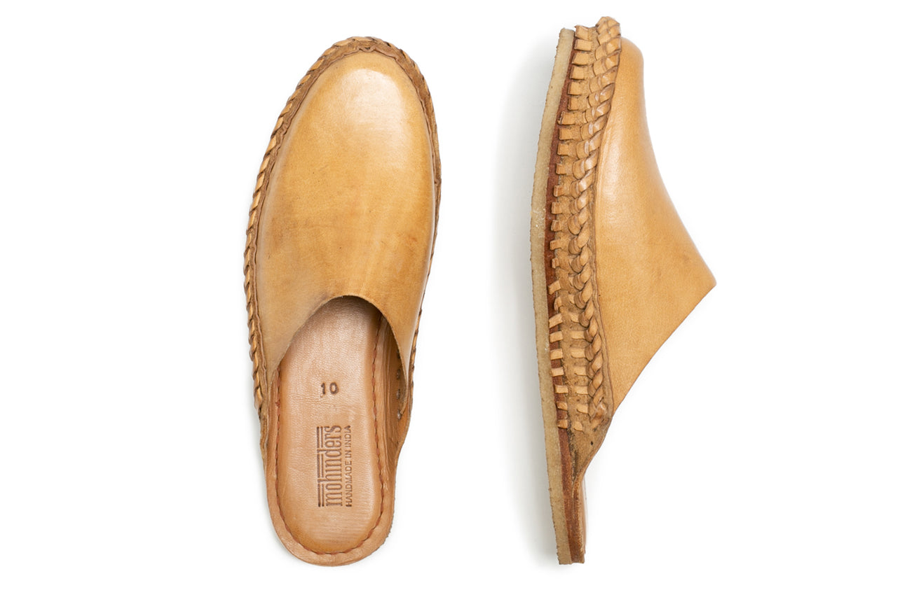 Solid City Slipper / Natural Leather