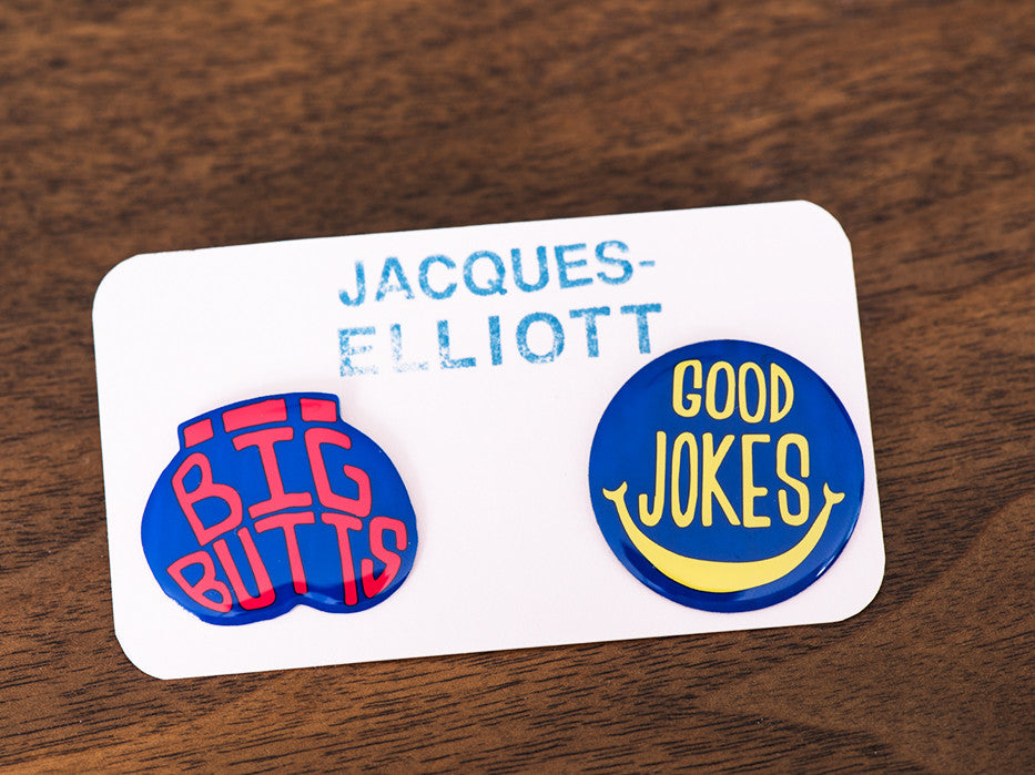 Big Butts/Good Jokes Hi Quality Enamel Pin Set