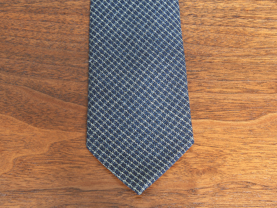 Sweet Checker Blue and Gold Pattern Tie