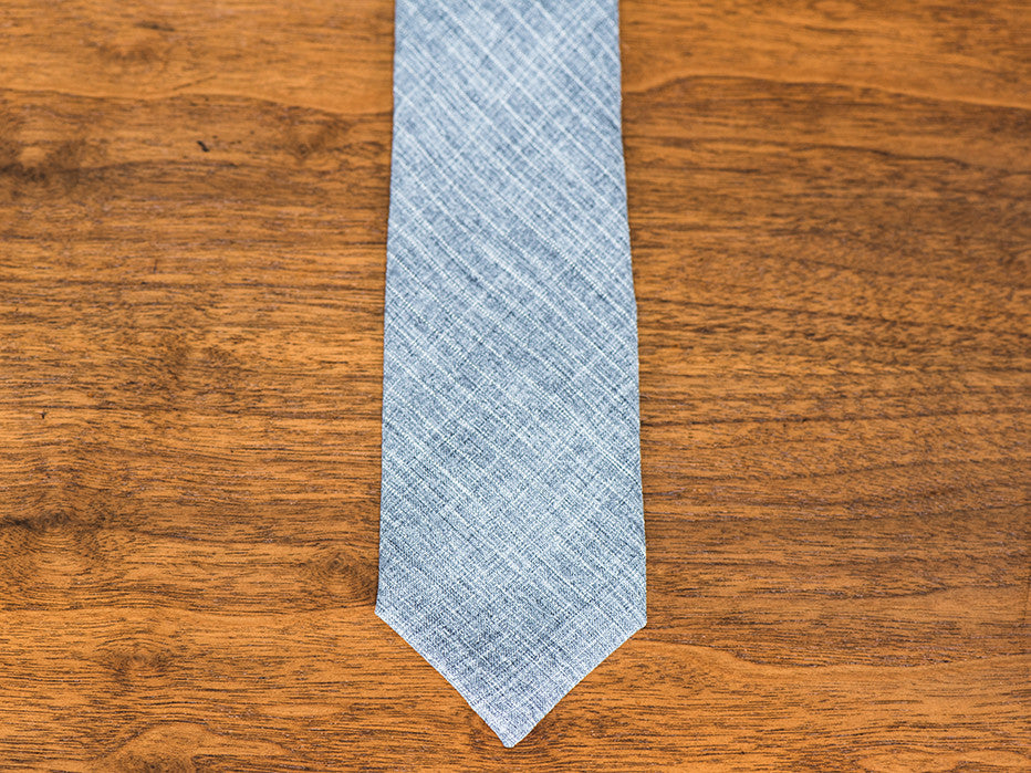 The Chancellor Grey Stripe Textured Tie