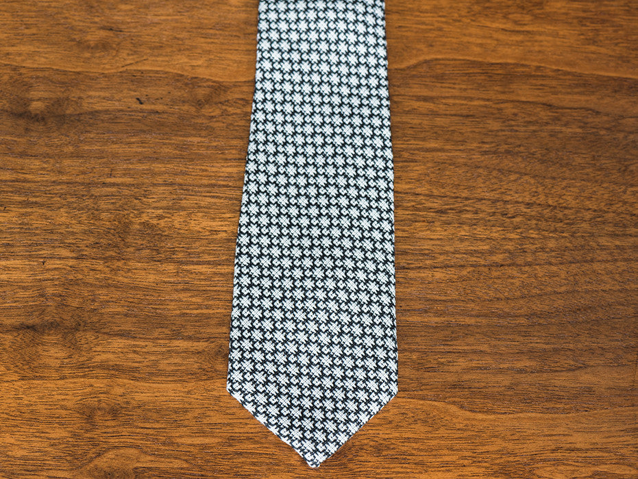 Cozy Ghost Black and White Knit Tie
