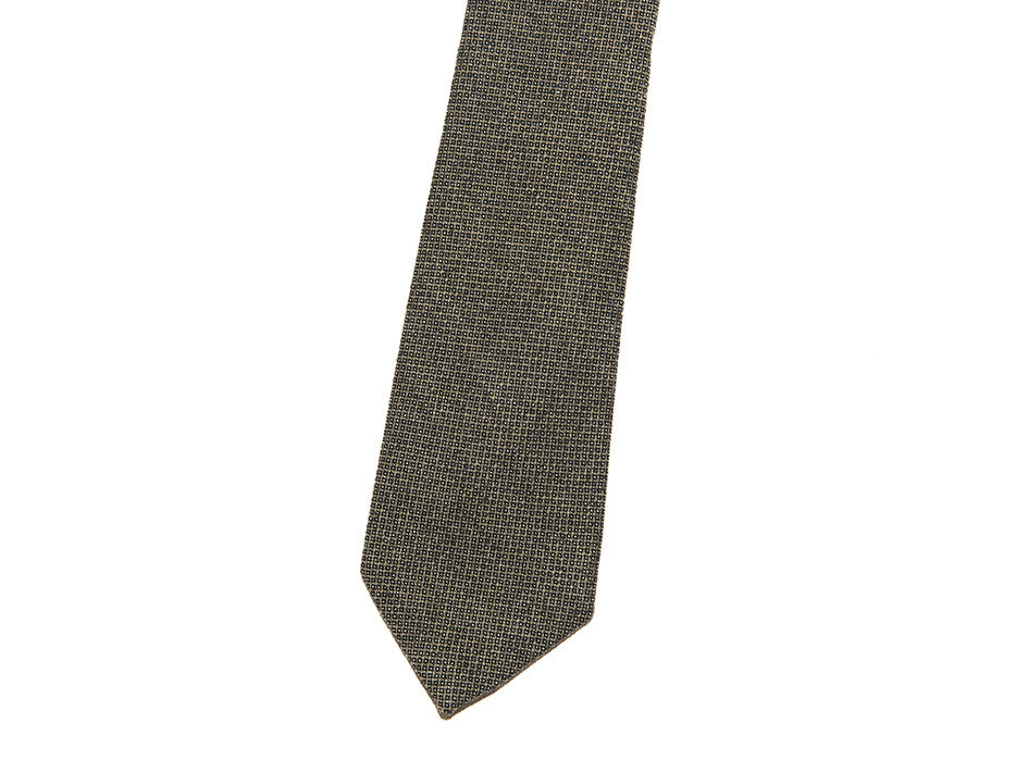 Executive Pattern Tie In Olive/Grey