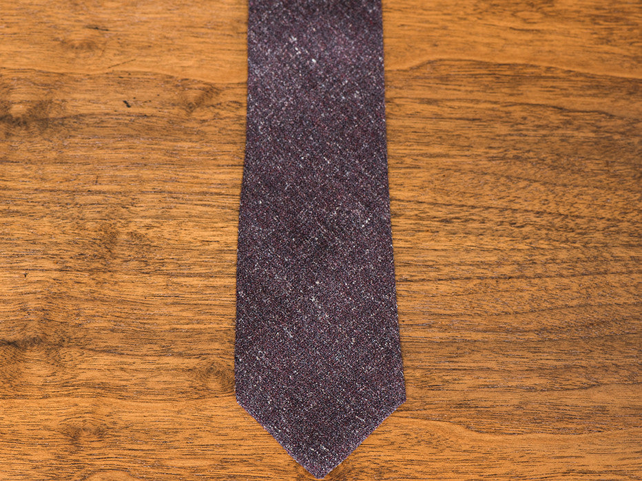 Fine Fine Wine Burgundy Textured Wool Tie
