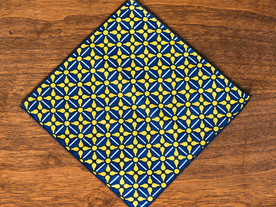 Power Print Blue and Yellow Jacques-Et Square