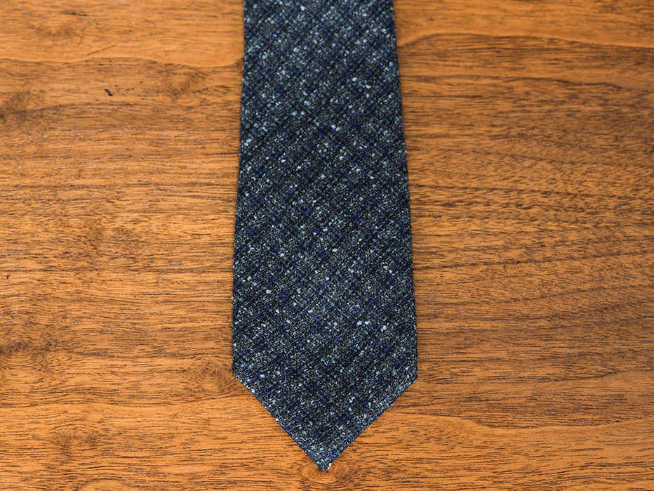Love Bomb Grey/Plum Super Textured Vintage Tweed Tie