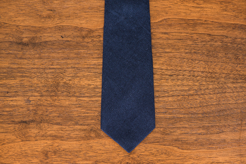 Rad Trad Deep Navy Wool Tie