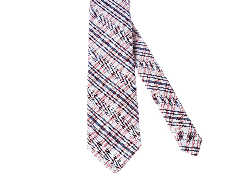 Radical Plaid (Blue/Red Version) Cotton Tie