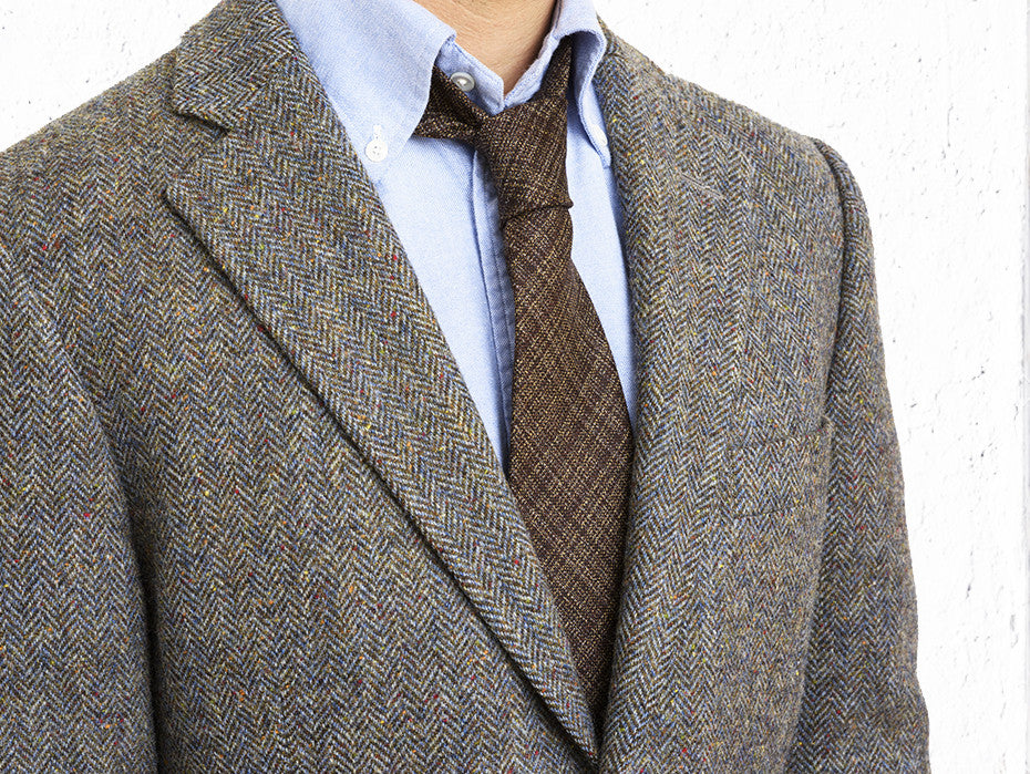 Super Classic Soft Brown Patterned Wool Tie