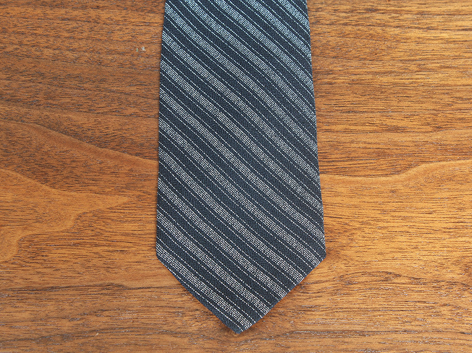 Silver and Black Champion Striped Tie