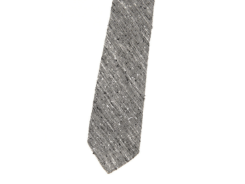 Skinny Sure Shot Grey Textured Tie In Wool