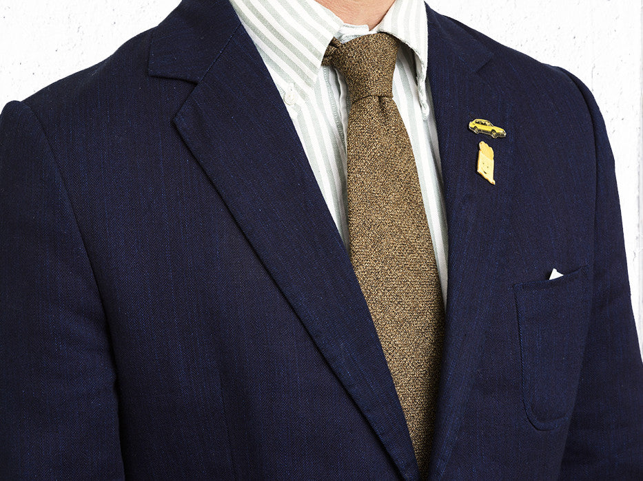 Ultra Wool Tie In Golden Brown
