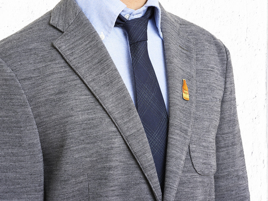 Ultra Wool Blue Overcheck Tie