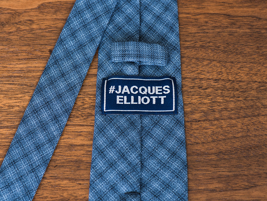 The Deputy Soft Blue/Grey Checked Tie