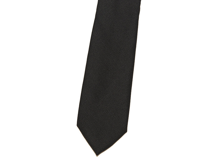 Uptown Tie In Black Foulard