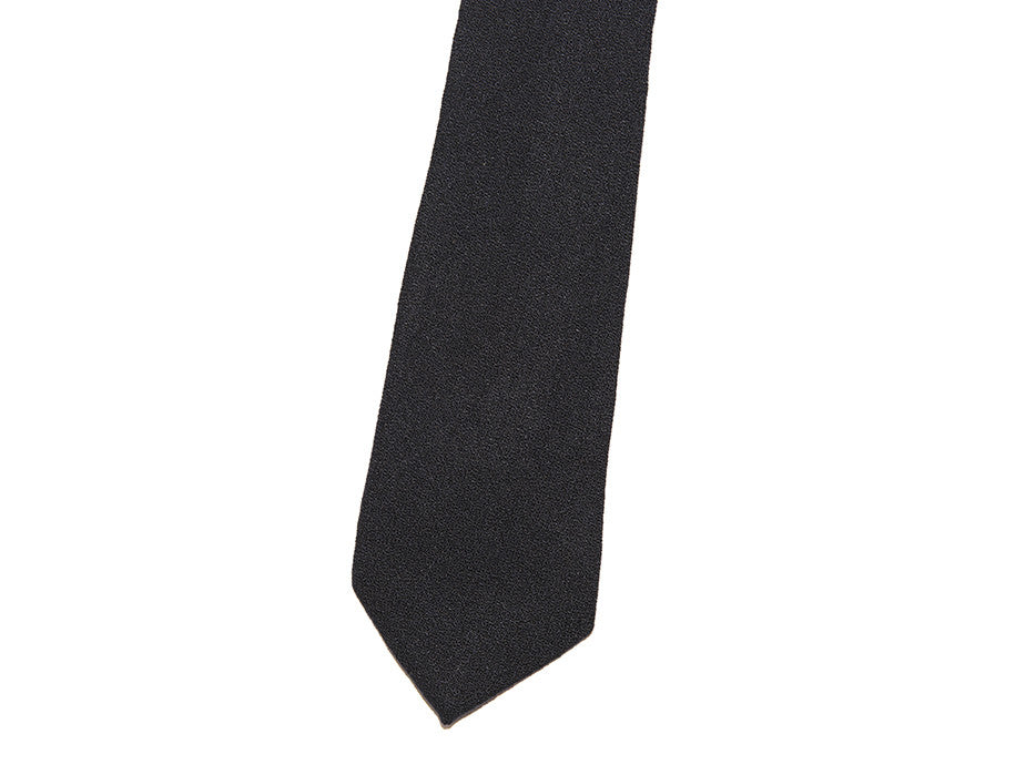 Uptown Tie In Black Wool Crepe