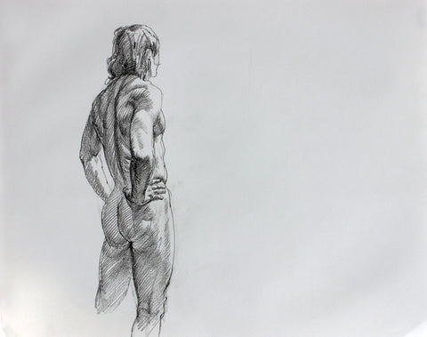 F. Scott Hess Drawing: Untitled Standing Male