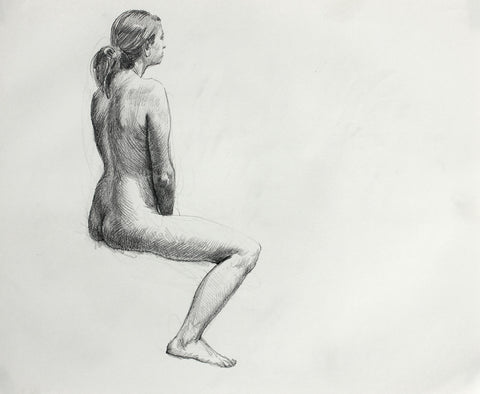 F. Scott Hess Drawing: Untitled Seated Female