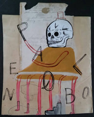 "Fred Stonehouse Drawing: ""Spelling Skull"""