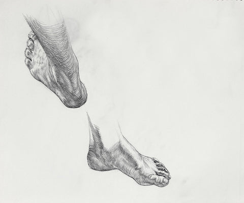 F. Scott Hess Drawing: Untitled Feet