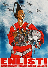 "Robert Pruitt, ""Star Pilot"", 2012, offset lithograph, edition of 60, 30"" x 21"""