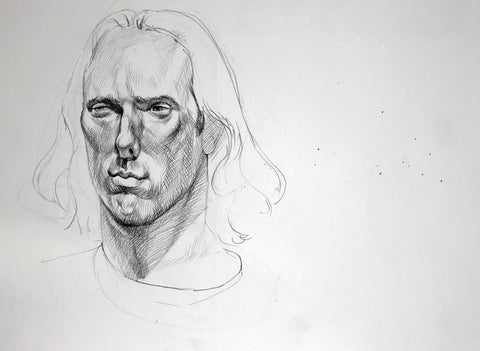 F. Scott Hess Drawing: Untitled Male Head