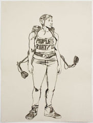 "Robert Pruitt, ""People's Party II"", 2014, single-color lithograph, edition of 15, paper size: 40"" x 30.13"""