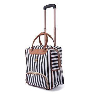 weekend Bag Women Trolley Luggage Rolling Suitcase Brand Casual Stripes Rolling Case Travel Bag on Wheels carry ons Suitcase