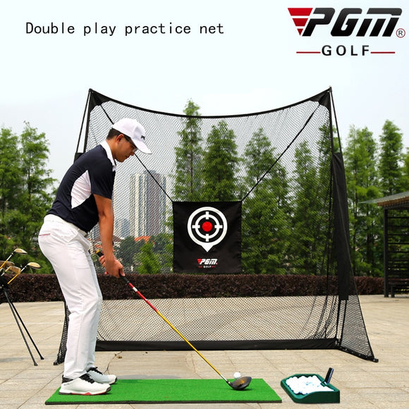 New! PGM Coach Recommended Indoor Golf Cutter Practice Net Swing Trainer Dual Target Belt Protective Net Unisex Swing Training