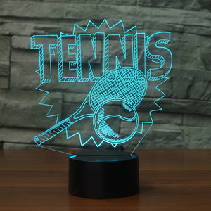 Acrylic 3D Night Light Illusion Atmosphere LED USB Table Lamp