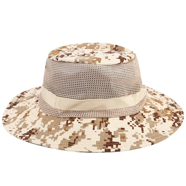 Summer Men Bucket Boonie Hats Multicam Tactical Airsoft Sniper Camouflage Nepalese Cap SWAT Army American Military Accessories