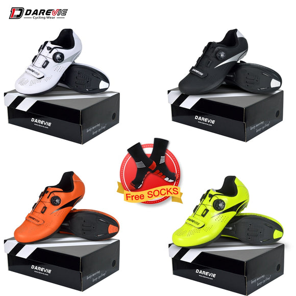 Darevie 2019 Road Cycling Shoes Bicycle Shoes Breathable Racing Cycle Shoes Mens Women Cycling Shoes Sale Bike Shoes LOOK SPD-SL