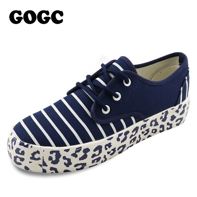 GOGC Women Sneakers Fashion Breathble Vulcanize Flats shoes 2019 Loafers Slip on Flat Shoes Ballet Flats Comfortable Ladies shoe