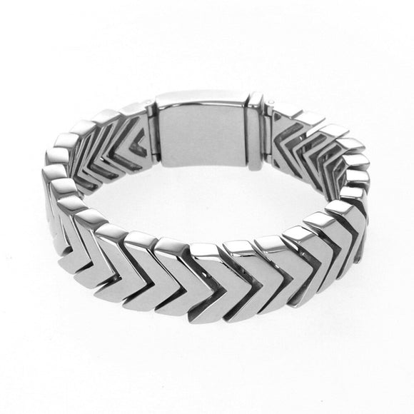 Heavy Bangle Men's Curb Link Bracelet Stainless Steel Punk  Biker Cool Jewelry Bracelet Bangle Wristband for Man