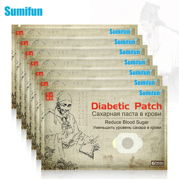 42Pcs/7bags Sumifun Diabetic Patch Natural Herbs Diabetes Plaster Stabilizes Blood Sugar