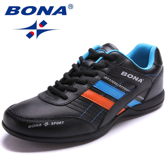 BONA New Popular Style Men Running Shoes Outdoor Walking Jogging Shoes Lace Up Sneakers Light Athletic Shoes Fast Free Shipping