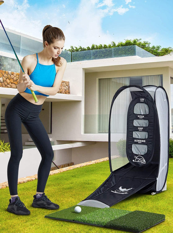 Golf practice net and hitting mat Portable Indoor and outdoor golf Training aids free shipping