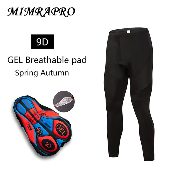 MIMRAPR BLACK CYCLING Pants/LONG Sleeve Cycling Clothing Thin style Lycra cloth 9D GEL PAD for profession long time ride