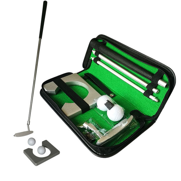 Protable Golf Club Putters Indoor Training Equipment Golf Putting Trainer Set Ball Holder Training Aids Tool Accessories D0893