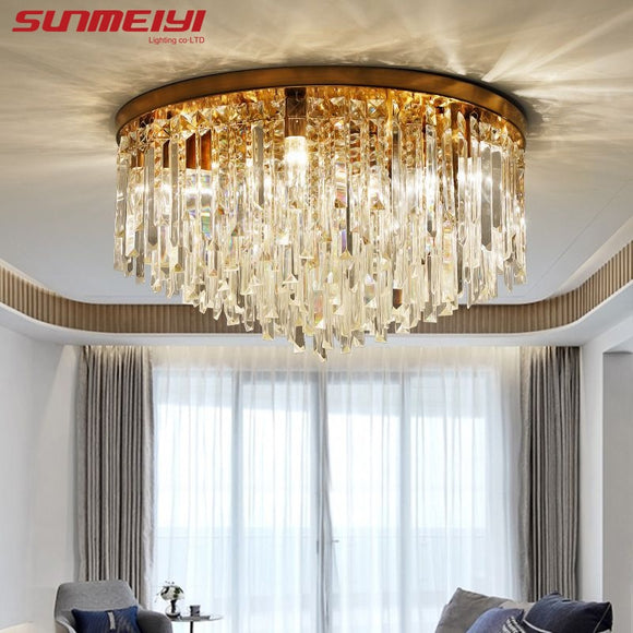 Modern Crystal Ceiling Lights Led Corridor Lighting Ceiling Lamp For Living room Kitchen Gold Bed Room Light lampara led techo