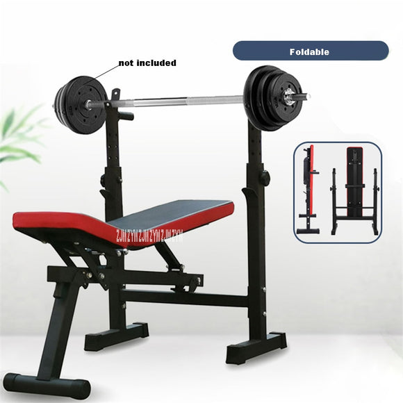 Multifunctional weight bench Weight Training Bench barbell rack household gym workout dumbbell Fitness exercise equipment