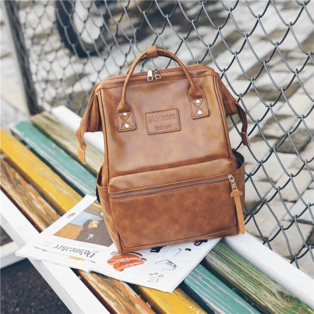 2021 Vintage backpack women high quality leather backpack high capacity school bags for teenage girls women travel backpacks