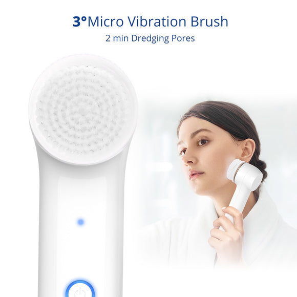 Facial Cleansing Brush Portable Electric Pore Deep Cleansing Face Acne And Blackheads Removal Device