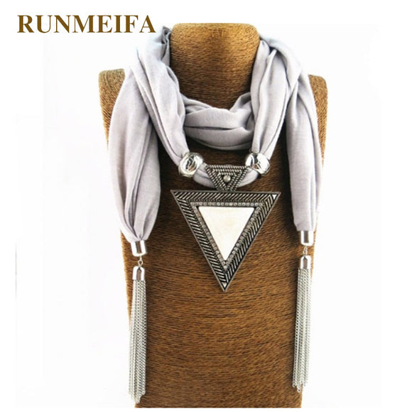 2018 Woman Triangle Charms Scarf Foulard Women Pashmina Echarpe