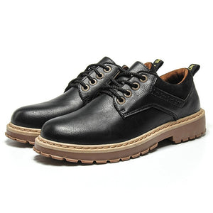 2018 Men Casual Leather Shoes Men Martins Leather Shoes